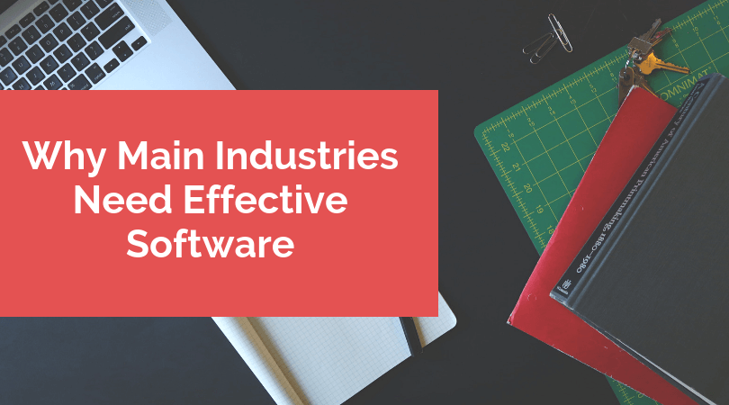 Why Main Industries Need Effective Software